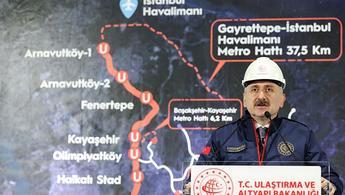 Bakan Karaismailoğlu'ndan İstanbul'a iki yeni raylı sistem hattı müjdesi