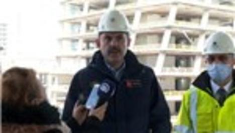 Bakan Kurum, İstanbul Finans Merkezi'nde incelemelerde bulundu