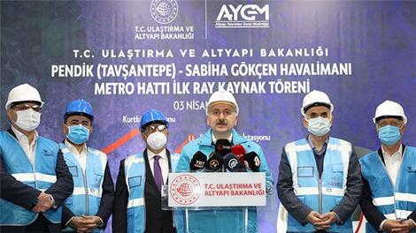 Ulaştırma ve Altyapı Bakanlığı, İstanbul'da 5 metro hattının yapımına devam ediyor