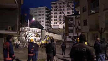 Ankara Çankaya'da istinat duvarı faciası!