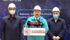"""""""Ülke genelinde yapımı devam eden 11 metro hattımızın uzunluğu 147 kilometreyi aşmaktadır"""""""