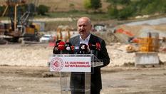 Bakan Karaismailoğlu, Kanal İstanbul temel atma alanında incelemelerde bulundu