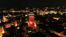Galata Kulesi'nde 15 Temmuz'a özel mapping gösterisi!