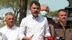 """Bakan Kurum: """"Antalya'da toplamda 2 bin 300 yapının bu yangın sebebiyle etkilendiğini düşünüyoruz"""""""