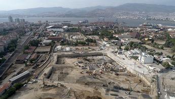 İzmir Allsancak'da temel çalışmaları havadan görüntülendi!